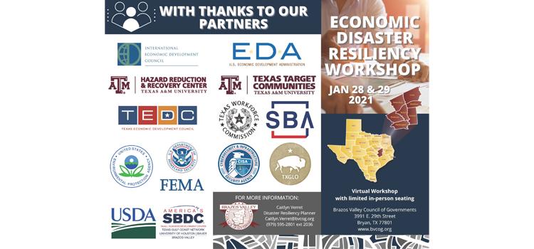 Registration Open - Economic Disaster Resiliency Workshop Jan 28-29th